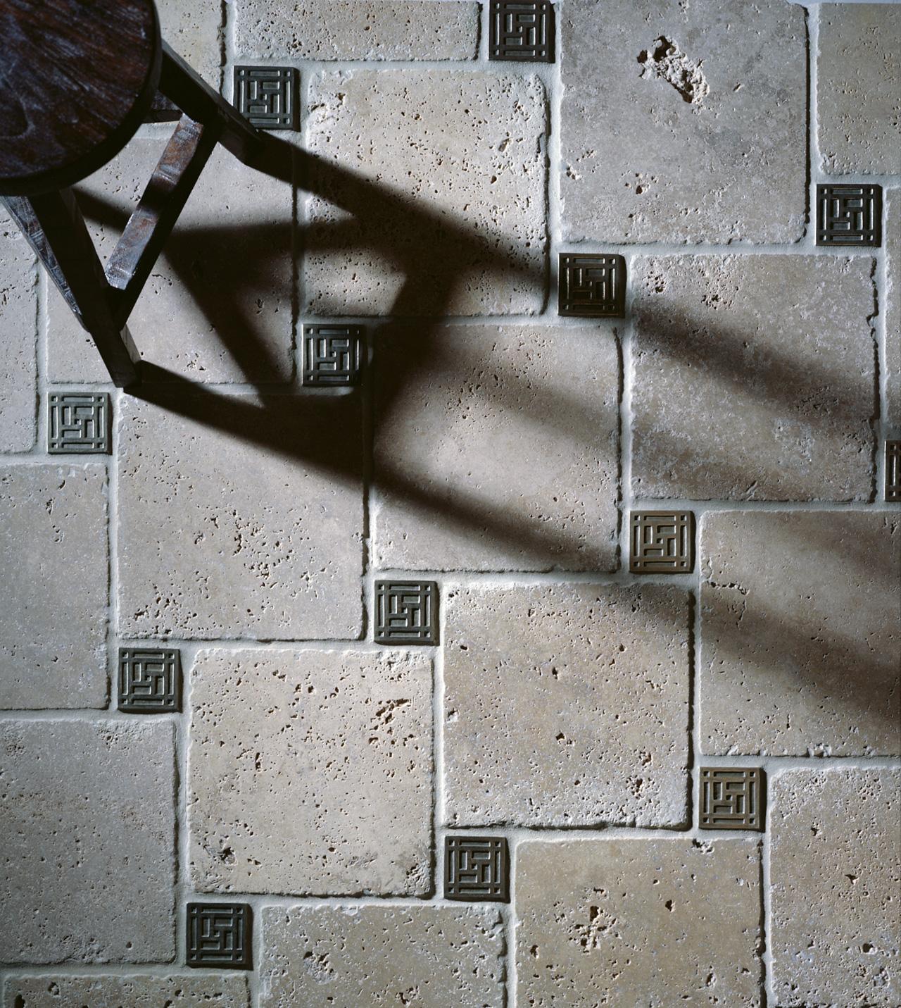 Grid 3x3 inch in White Bronze